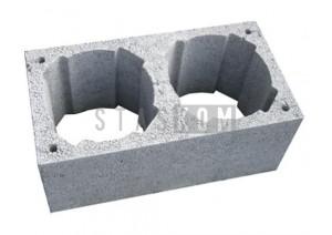 Komínová tvárnice dvouprůduchová pro průměr 140-200mm, rozměr 700x360x240mm